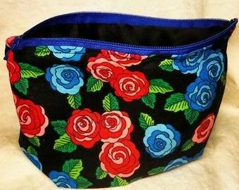 Waverly Rose Print Cosmetic Bag