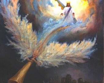 Christian wall art, Jesus painting, print, Christian art print, Brenda Laney, church wall art, wall decor, second coming Jesus, pastor gift