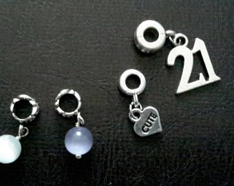 Charms fit on European bracelets bail can be removed