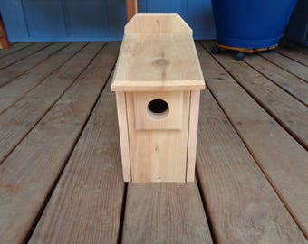 Blue bird house - western cedar