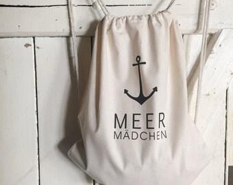 Backpack Jute Turn bag fabric bag tote bag jute bag cool hipster maritim just pretty shop by Anne Freyberg