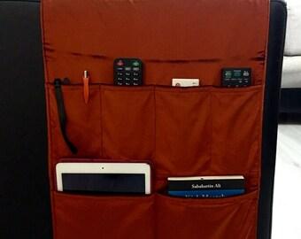 Copper Velvet Fabric Organizer,Remote Control Holder,Remote Control Caddy,Couch Organizer,Sofa Organizer,Chair Fabric Organizers
