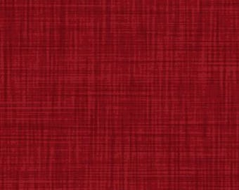 Christmas Red Weave Texture // // Quilters Cotton