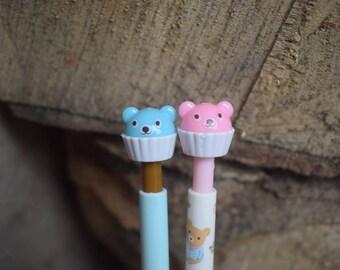 Cute teddy pencil