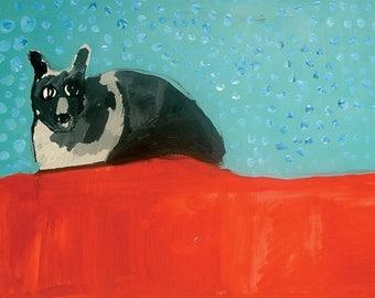Black Cat 17x25 Print
