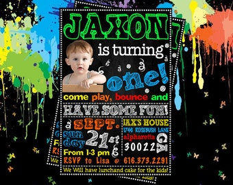 Bounce House Birthday Party Bounce Have Some Fun Invitation Jump Party Printable Jump Birthday Party Bounce House Birthday Invitation