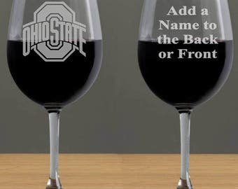 Ohio State Gifts Wine Glasses, Ohio State Buckeyes, College Gift Ideas, Ohio State University, College Wine Glasses