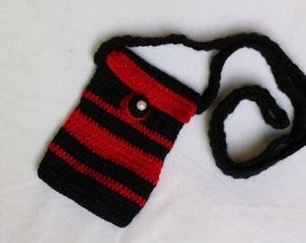 Long Strap Crochet Coin Purse (refugee handmade)