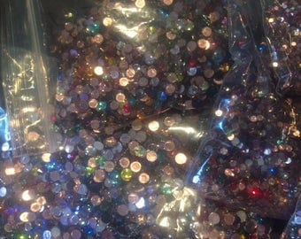 144pc Swarovski Variety Mix Hotfix OR Non Hotfix Flatback ss10 3mm, ss12 3.5mm, ss16 4mm , ss20 5mm 2038 2058 2078 2088 Xillion Rose