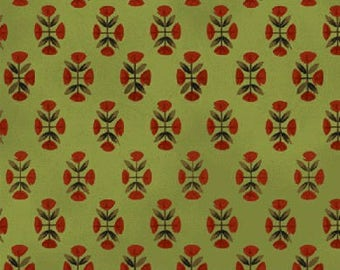Windham Fabrics Williamsburg Folk Art by Colonial Williamsburg 31692-2     -- 1/2 yard increments