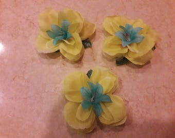 Yellow and Blue Hair Clip