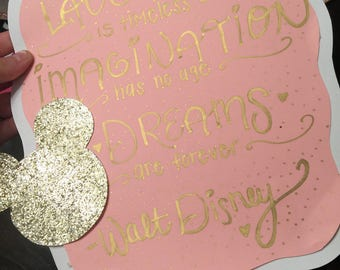 Minnie Mouse Quote Sign