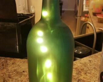 Sea glass bottle