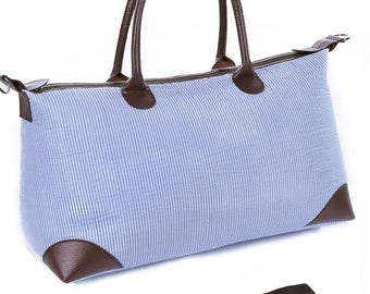 Blue and white tote!