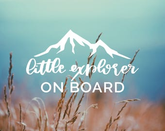 Decal Little EXPLORER ON BOARD Vinyl Decal, Car Window Decal, Baby on Board Decal, Adventure, Baby on Board, Car Decal, Baby Shower Gift
