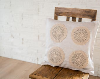 Decorative  pillow cover, natural  linen pillow