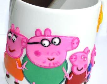 """Cup with a decor """"Peppa pig"""""""