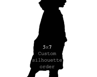 5x7 custom silhouette piece