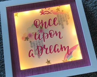 Once Upon A Dream LED Light Up Box Frame