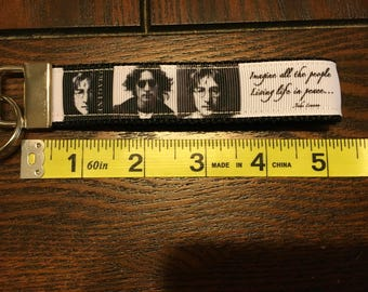 John Lennon Key Key Fob/Chain Wristlet