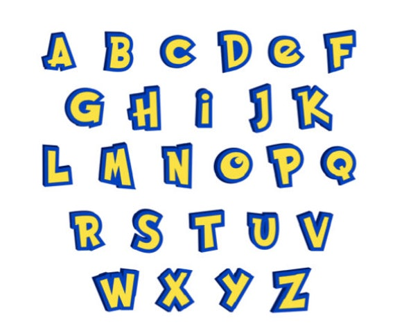 pokemon go font alphabet monogram font svg cut files instant download from epicgraphiks on etsy