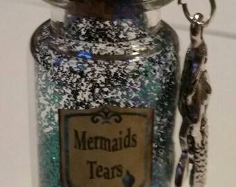 Mermaids tears keepsake bottle.