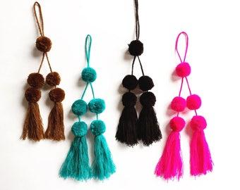 Mexican Pom Pom / Pom Pom Keychain / Colorful Mexican Pom Pom / Pom Pom Bag Charm / Pom Pom Tassel / Pom Pom Bag Pendant / Pom Pom Pendant