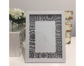 4x6 Patterned Photo Frames- 3 Colours