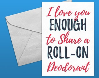 Sharing Roll-on Deodorant Card