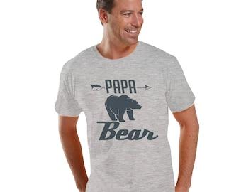 PAPA BEAR Charcoal Men's Fine Jersey Tee