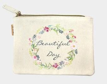 Personalized Canvas Pouch Makeup Bag Wallet