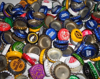100 Various Used Undented Dented Bottle Caps Altered Art Art Supply Jewelry Making Metal Art