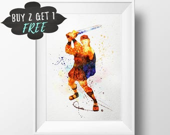 Baby Boy Nursery Decor Hercules Art Print Poster, Wall Art Nursery Decor Printable Watercolor Instant Download Printable Wall Boy Art Canvas