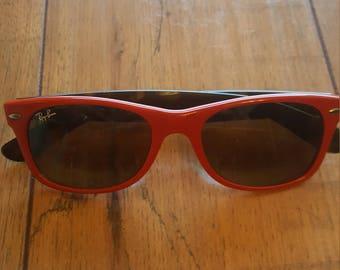 RED RAY BAN 52-18// Classic Vintage //Wayfarer sunglasses