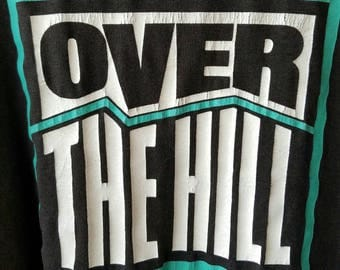 Over the Hill 1990 T Shirt - size L #114