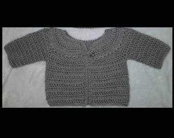 CUSTOM Baby Cardigan - Merino Wool