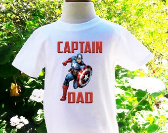 Captain America Dad of the Birthday Boy Captain America Custom Shirt Captain America Birthday Shirt  Dad Custom Birthday Shirt-CA003