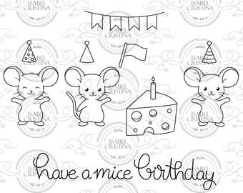 Have a mice birthday - IsabelCristinaStamps
