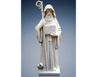 Saint St. Benedict resin statue ornament Catholic San Benedetto