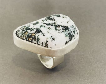 Green Tree Agate Ring