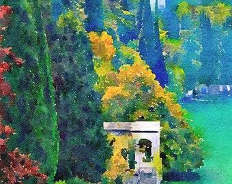Lake Como Italy Original Watercolour Painting Q163