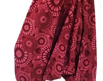Harem pants; Aladdin-pink flower