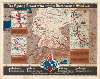 86th infantry division campaign map black hawk division us army military chart