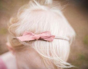 Bias Tape Nylon Headbands Hand Dyed Natural Dyes Baby Headbands Toddler headbands Hair accessories