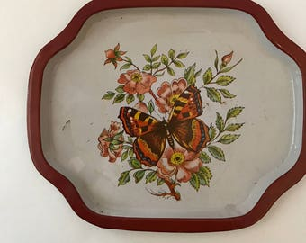 Vintage Tin Trays, Set of 2, 1960s, Collectible Appetizer Trays, More Available