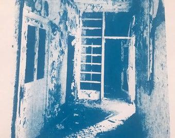 Abandoned beauty blue