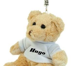 Teddy bears wearing custom key name