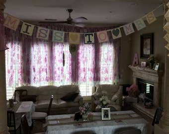 Decorative backdrop/hanging for bridal shower or baby shower or party