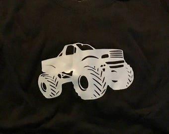 Monster truck iron on vinyl