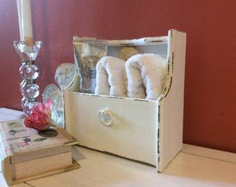 Wooden Storage Box, shabby French Country  cottage chicdecor and gifts country chic decor for bed bath office